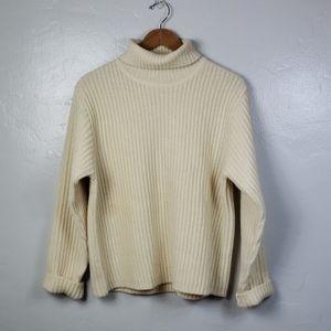 Vintage Ann Taylor Chunky Wool Turtleneck Sweater